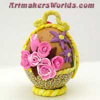 Egg flower basket