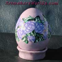 Egg Purple Rose