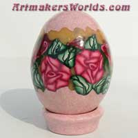 Egg red rose pink