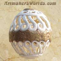 White filigree egg
